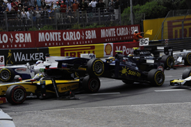 Monaco GP2 crash