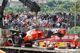 Johnny Cecotto Jr, Arden, Monaco GP2 crash 2013