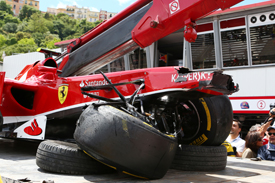Felipe Massa, Ferrari, crash, Monaco GP 2013