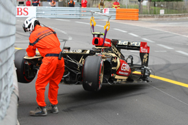 Romain Grosjean crash, Lotus, Monaco GP 2013