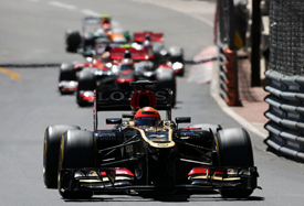 Romain Grosjean, Lotus, Monaco GP 2013