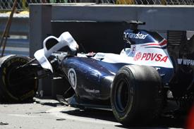 Pastor Maldonado, Williams, Monaco GP crash 2013