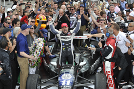 Tony Kanaan wins Indianapolis 500