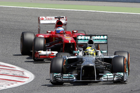 Nico Rosberg, Mercedes and Fernando Alonso, Spanish GP 2013