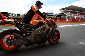 Marc Marquez's damaged Honda, Mugello MotoGP 2013