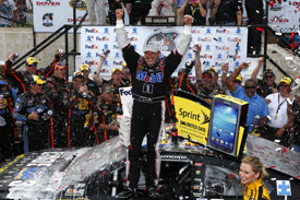 Tony Stewart wins Dover NASCAR race