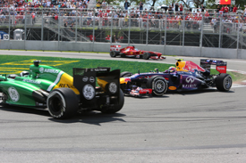 Giedo van der Garde and Mark Webber collide, Canadian GP 2013, Montreal
