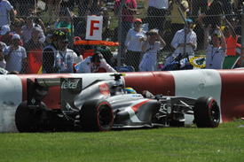 Esteban Gutierrez, Sauber, crashes, Canadian GP 2013, Montreal