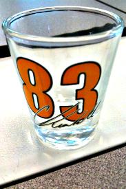 Charlie Kimball shot glass