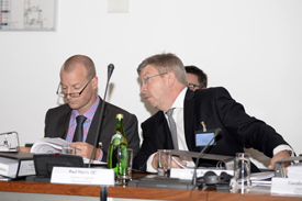 Paul Harris QC and Ross Brawn, FIA Tribunal