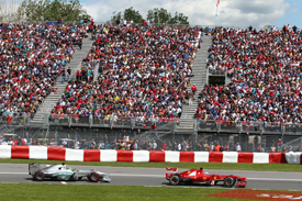 Fernando Alonso, Ferrari and Lewis Hamilton, Mercedes, Canadian GP 2013, Montreal