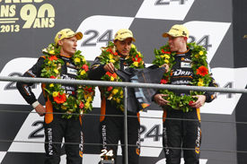 Delta-ADR crew on the Le Mans podium 2013