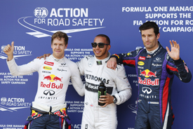 Sebastian Vettel, Lewis Hamilton, Mark Webber, German GP qualifying 2013, Nurburgring