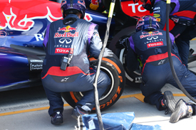Red Bull pitstop