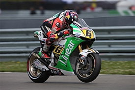 Bradl fastest as Lorenzo crashes heavily