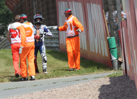 Jorge Lorenzo after Sachsenring MotoGP crash