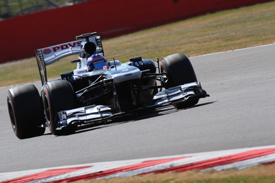 Susie Wolff, Williams, Silverstone F1 testing, July 2013