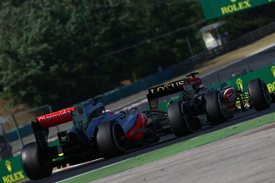 Jenson Button and Romain Grosjean, Hungarian GP 2013, Hungaroring