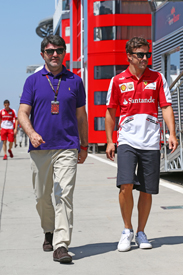 Luis Garcia Abad and Fernando Alonso