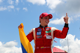 Gabby Chaves wins Mid-Ohio Indy Lights race 2013