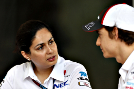 Monisha Kaltenborn and Esteban Gutierrez