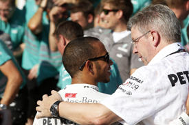 Lewis Hamilton and Ross Brawn