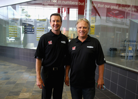 Gene Haas and Kurt Busch