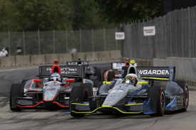 Josef Newgarden, Fisher, and Ryan Briscoe, Panther, Detroit IndyCar 2013