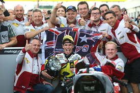 Scott Redding wins Silverstone Moto2 race 2013