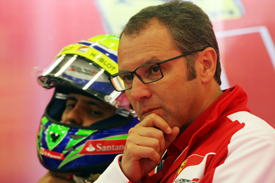 Felipe Massa and Stefano Domenicali
