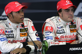 Lewis Hamilton and Fernando Alonso, Hungary 2007