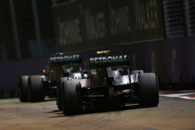 Nico Rosberg and Lewis Hamilton, Mercedes, Singapore GP 2013