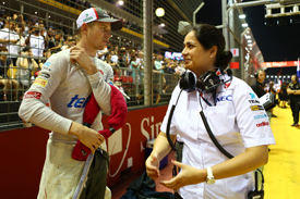Nico Hulkenberg and Monisha Kaltenborn