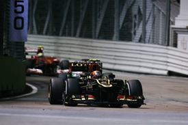 Romain Grosjean, Lotus, Singapore GP 2013