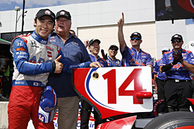 Sato secures Houston pole for Foyt