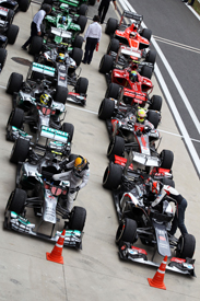 Korean GP parc ferme 2013