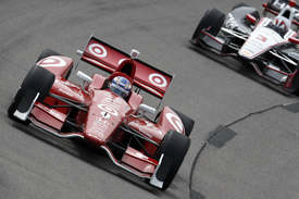 Scott Dixon and Helio Castroneves, Iowa IndyCar 2013