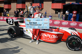 Zach Veach takes Fontana Indy Lights pole 2013