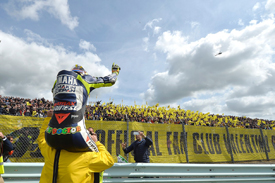 Rossi still has a huge fan following