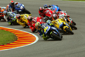 Rossi was unbeatable at Mugello from 2002-08. Here he leads the field in '04