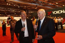 Martin Brundle and John Surtees