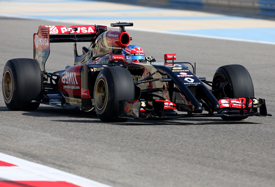 Romain Grosjean, Lotus, Bahrain F1 test