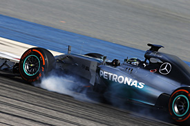 Rosberg locks up Bahrain test 2014