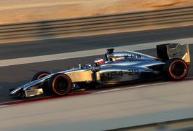 Kevin Magnussen, McLaren, Bahrain F1 test, February 2014