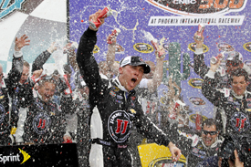Harvick takes dominant win