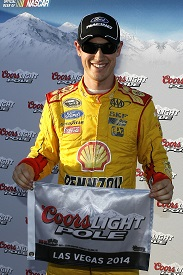 Logano takes pole with Vegas record