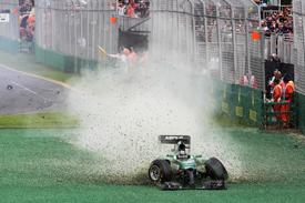 Kamui Kobayashi crash