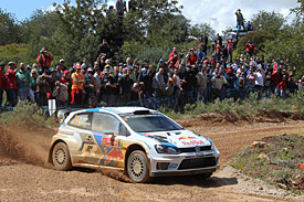 Ogier holds narrow lead in Portugal