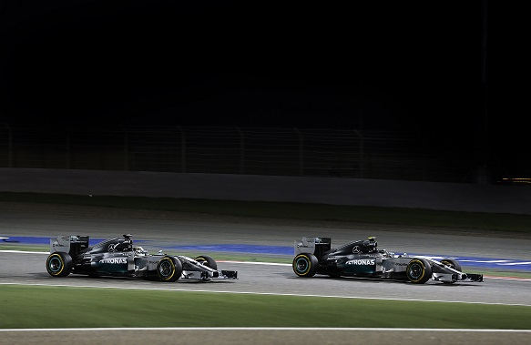 Lewis Hamilton Nico Rosberg Bahrain Grand Prix