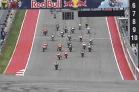 Austin MotoGP start 2014